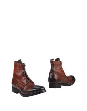 Полусапоги и высокие ботинки SARTORI GOLD. Цвет: ржаво-коричневый