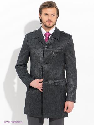 Пальто Bazioni. Цвет: серый