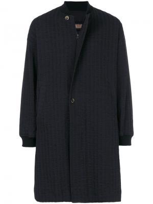 Фактурное пальто Uma Wang. Цвет: синий