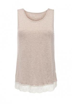 Рубашка домашняя Дефиле. Цвет: бежевый