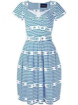 Платье Yvette Samantha Sung. Цвет: синий