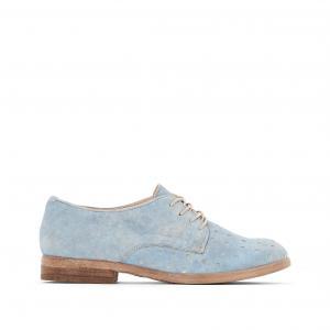 Ботинки-дерби из перфорированной кожи Nicole MJUS. Цвет: небесно-голубой,розовая пудра
