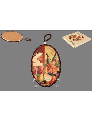 Подставка под горячее Натюрморт с сыром Elan Gallery. Цвет: коричневый, желтый, зеленый, бордовый