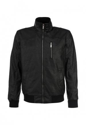Куртка кожаная Troll. Цвет: черный