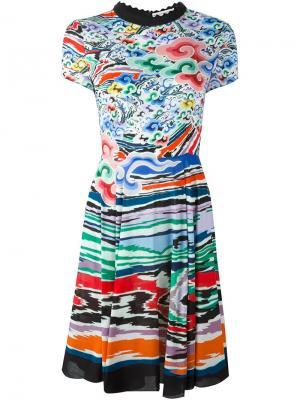 Расклешенное платье с узором Mary Katrantzou. Цвет: многоцветный