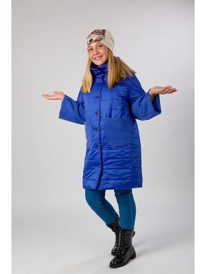 Стеганое пальто MARIELA. Цвет: синий