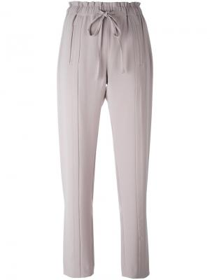 Прямые брюки на завязках Steffen Schraut. Цвет: серый
