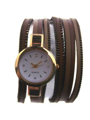 Оригинальные часы на длинном ремешке Tina Bolotina. Цвет: коричневый