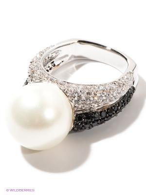 Кольцо Infiniti. Цвет: серебристый, молочный, черный