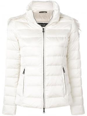 Дутая куртка с меховой оторочкой Hetregò. Цвет: телесный