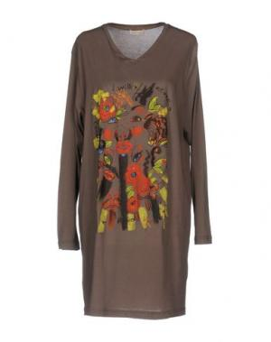 Короткое платье WUNDERKIND. Цвет: хаки