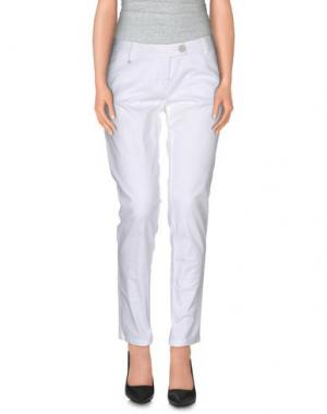 Повседневные брюки LUCKY LU Milano. Цвет: белый