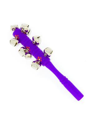 Стучалка большая (бубенцы, фиолетовая) АНДАНТЕ. Цвет: фиолетовый