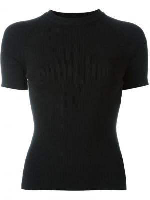 Трикотажная футболка Rosetta Getty. Цвет: чёрный