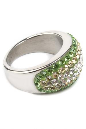 Кольцо Crocus-Elite. Цвет: зеленый