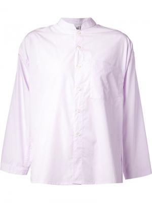 Рубашка с воротником-мандарин Liwan. Цвет: розовый и фиолетовый