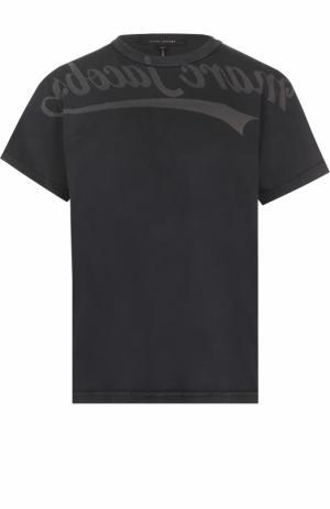 Хлопковая футболка с круглым вырезом Marc Jacobs. Цвет: черный
