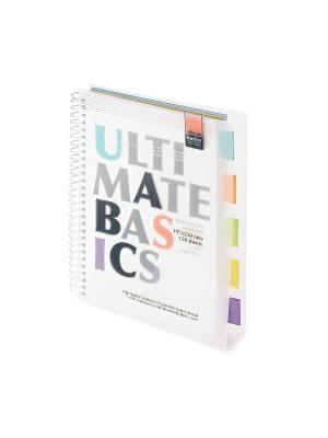 Бизнес-блокнот-2 а4-, 150 л. гр., разделители, пластиковая обл. ultimate basics, белый Альт. Цвет: белый