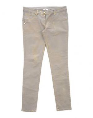 Джинсовые брюки MISS GRANT. Цвет: серый