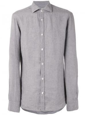 Классическая рубашка Danolis. Цвет: серый
