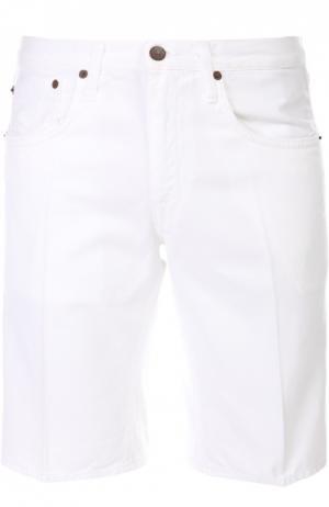 Джинсовые шорты с блокнотом (+)People. Цвет: белый