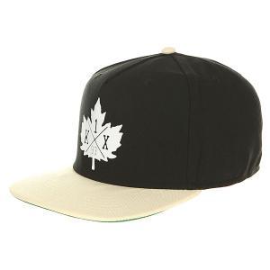 Бейсболка с прямым козырьком  Park Authority Snapback Cap Black/Bohe K1X. Цвет: черный,бежевый