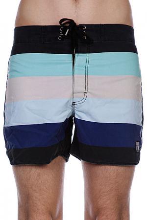 Пляжные мужские шорты  Retro Stud Bunker Black Insight. Цвет: черный,зеленый,белый