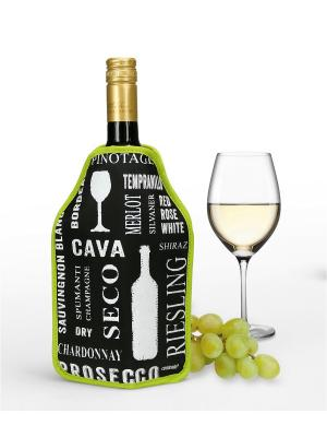 Охлаждающий чехол для вина Frigo Contento. Цвет: черный