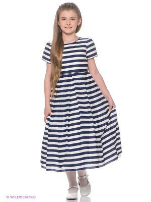 Платье Perlitta. Цвет: синий, белый