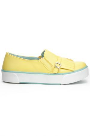 Слипоны DERI&MOD. Цвет: желтый