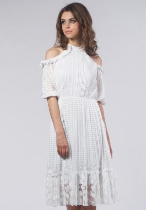 Платье OKS by Oksana Demchenko. Цвет: белый