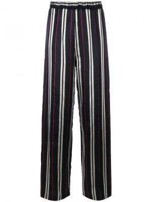 Жаккардовые брюки в полоску Au Jour Le. Цвет: синий