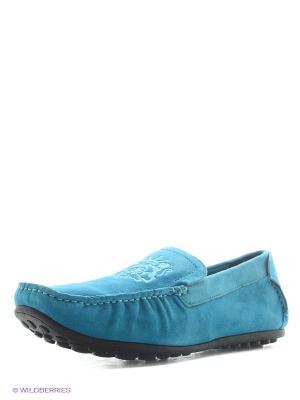 Мокасины Franco Bellucci. Цвет: голубой