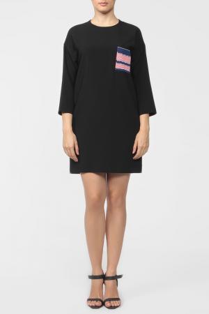 Платье-туника Celine. Цвет: черный