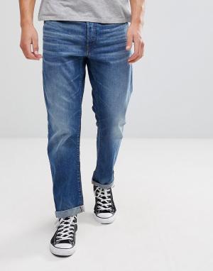 G-Star Выбеленные прямые джинсы Type C 3D. Цвет: синий