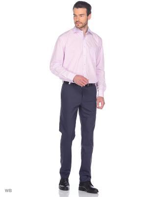Рубашка GroStyle. Цвет: розовый, белый