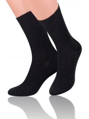 Носки с ослабленной резинкой Steven, 43-46, черный Steven. Цвет: черный
