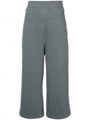 Широкие брюки с завышенной талией Tibi. Цвет: серый