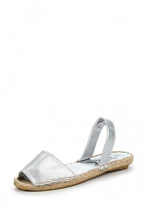 Сандалии Silver&Blue. Цвет: серебряный