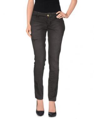 Повседневные брюки MONOCROM. Цвет: стальной серый