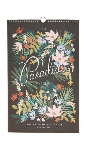 Календарь Paradise Gardens на 2017 год Rifle Paper Co