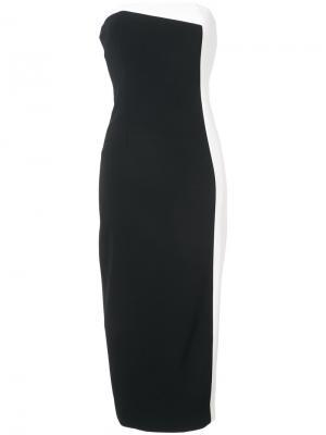 Асимметричное платье с панельным дизайном Sally Lapointe. Цвет: чёрный