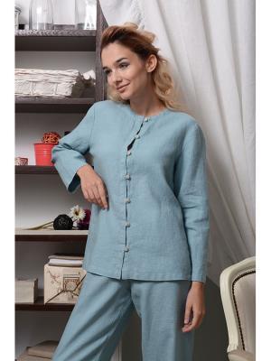 Блуза домашняя Александра LINO RUSSO. Цвет: серо-зеленый