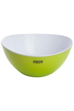 Салатник с двойными стенками TECO. Цвет: зеленый