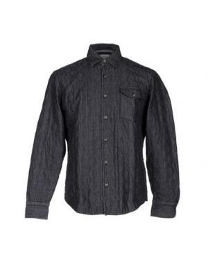 Джинсовая рубашка TINTORIA MATTEI 954. Цвет: свинцово-серый