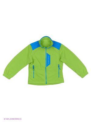 Куртка флисовая High Experience. Цвет: синий, салатовый