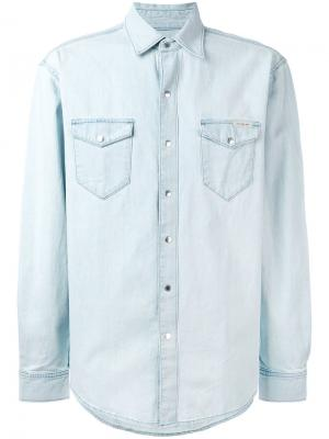 Джинсовая рубашка Ck Jeans. Цвет: синий