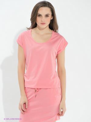 Футболка Vero moda. Цвет: розовый