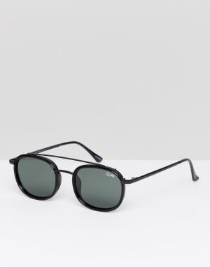 Quay Australia Черные круглые солнцезащитные очки. Цвет: черный