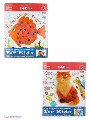 Мастерская малыша. Набор основ для детского творчества (Кот, Рыбка) 2+ АЙРИС-пресс. Цвет: белый, синий, красный